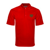 Red Mini Stripe Polo-Interlocking Greek Letters