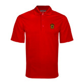 Red Mini Stripe Polo-Crest