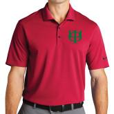 Nike Golf Dri Fit Red Micro Pique Polo-Interlocking Greek Letters