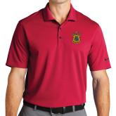 Nike Golf Dri Fit Red Micro Pique Polo-Crest