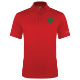 Columbia Red Omni Wick Round One Polo-Interlocking Greek Letters