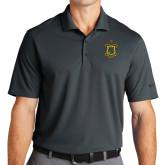 Nike Golf Dri Fit Charcoal Micro Pique Polo-Crest