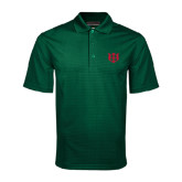 Dark Green Mini Stripe Polo-Interlocking Greek Letters