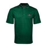 Dark Green Mini Stripe Polo-Official Logo