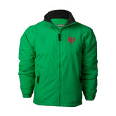 Kelly Green Survivor Jacket-Interlocking Greek Letters