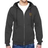 Charcoal Fleece Full Zip Hoodie-Crest