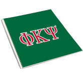 College Spiral Notebook w/Clear Coil-Greek Letters