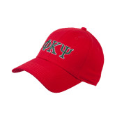Red Heavyweight Twill Pro Style Hat-Greek Letters
