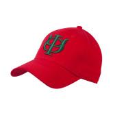 Red Heavyweight Twill Pro Style Hat-Interlocking Greek Letters