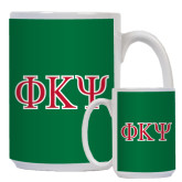 Full Color White Mug 15oz-Greek Letters