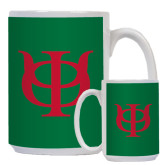 Full Color White Mug 15oz-Interlocking Greek Letters