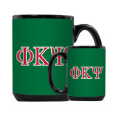 Full Color Black Mug 15oz-Greek Letters