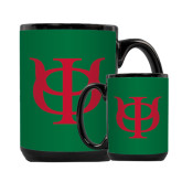 Full Color Black Mug 15oz-Interlocking Greek Letters