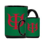 Full Color Black Mug 15oz-Interlocking Greek Letters