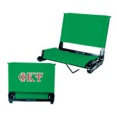Stadium Chair Kelly Green-Greek Letters