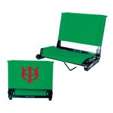 Stadium Chair Kelly Green-Interlocking Greek Letters