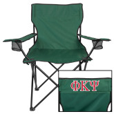 Deluxe Green Captains Chair-Greek Letters