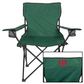 Deluxe Green Captains Chair-Interlocking Greek Letters