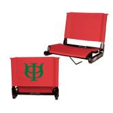 Stadium Chair Red-Interlocking Greek Letters
