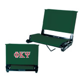 Stadium Chair Dark Green-Greek Letters
