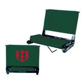 Stadium Chair Dark Green-Interlocking Greek Letters