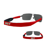Croakies Red Thin Band Sunglasses Strap-Greek Letters