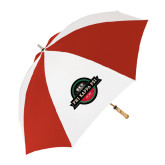 62 Inch Red/White Umbrella-Official Logo