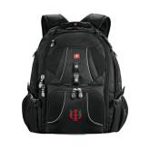Wenger Swiss Army Mega Black Compu Backpack-Interlocking Greek Letters
