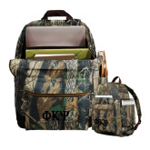 Heritage Supply Camo Computer Backpack-Greek Letters