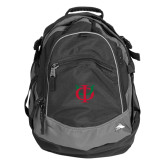 High Sierra Black Titan Day Pack-Interlocking Greek Letters
