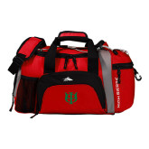 High Sierra Red/Black Switch Blade Duffel-Interlocking Greek Letters