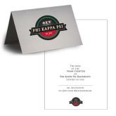 Personalized Folded Bid Card 7 x 5 w/ Blank Envelope-