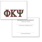 Personalized Bid Card 7 x 5 w/ Envelope-