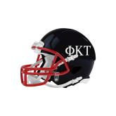 Riddell Replica Black Mini Helmet-Greek Letters
