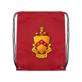 Cardinal Drawstring Backpack-Crest