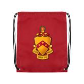 Cardinal Drawstring Backpack-Crest