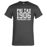 Charcoal T Shirt-Phi Tau 1906 Founders Day