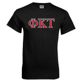 Black T Shirt-Greek Letters - Two Color