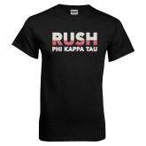 Black T Shirt-Rush Phi Kappa Tau