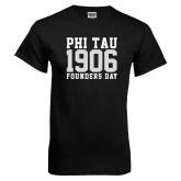 Black T Shirt-Phi Tau 1906 Founders Day