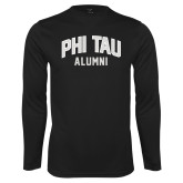 Performance Black Longsleeve Shirt-Phi Tau Alumni