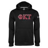 Under Armour Black Performance Sweats Team Hoodie-Greek Letters - Two Color