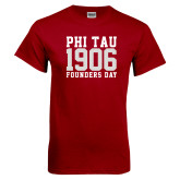Cardinal T Shirt-Phi Tau 1906 Founders Day
