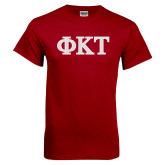 Cardinal T Shirt-Greek Letters - Two Color
