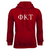 Cardinal Fleece Hoodie-Greek Letters
