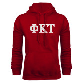 Cardinal Fleece Hoodie-Greek Letters - Two Color