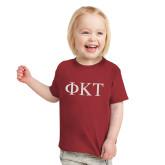 Toddler Cardinal T Shirt-Greek Letters