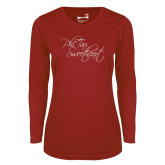 Ladies Syntrel Performance Cardinal Longsleeve Shirt-Phi Tau Sweetheart