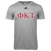 Adidas Climalite Sport Grey Ultimate Performance Tee-Greek Letters - Two Color