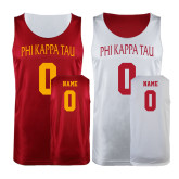 Cardinal/White Reversible Tank-Personalized Arched Phi Kappa Tau
